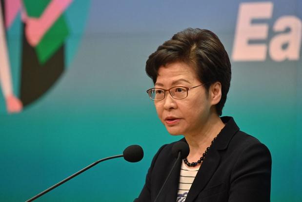 Pers mag regering in Hongkong niet ondermijnen, zegt regeringsleidster Carrie Lam