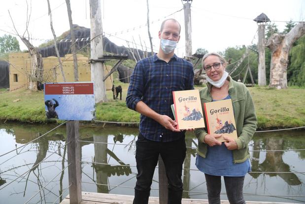 West-Vlaamse schrijfster stelt boek over voetbalgekke gorilla voor... tussen de gorilla's
