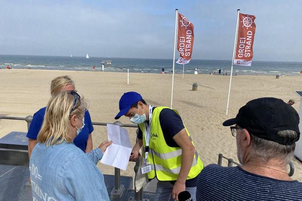 Aanmeldingssysteem voor Oostendse strand opnieuw in werking