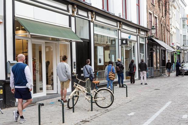 Bijzonder kalm in Brugse winkelstraten