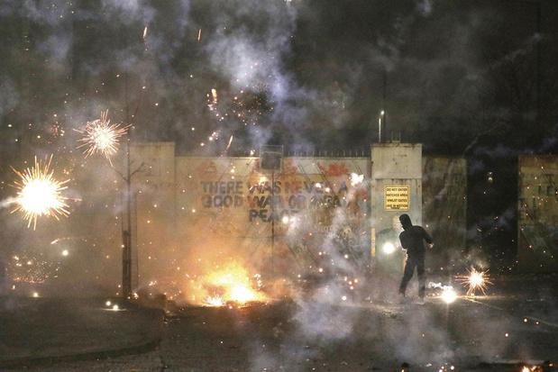 Vuurwerk in Belfast