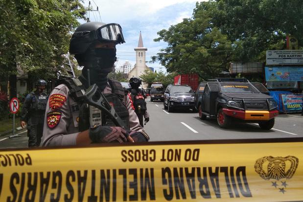 Zelfmoordaanslag bij kerk in Indonesië op Palmzondag: zeker negen gewonden