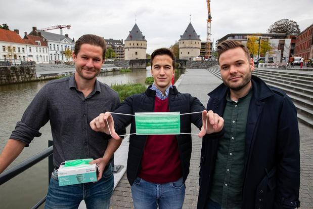 Drie jonge West-Vlamingen maakten de eerste Belgische chirurgische mondmaskers