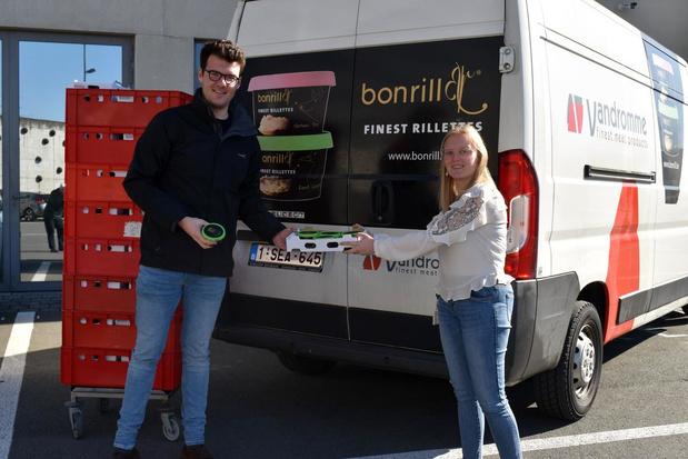 Firma BonRill schenkt potjes rillette aan Jan Yperman Ziekenhuis