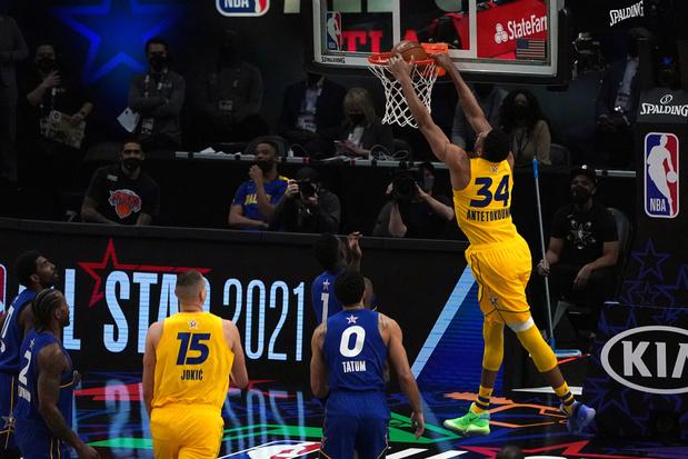 'Team LeBron' wint NBA All-Star Game, Giannis Antetokounmpo wordt MVP