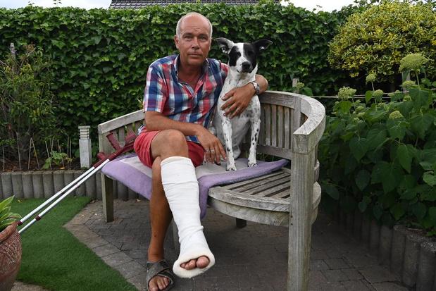 Hond Lies en baasje Kurt uit Emelgem vallen in waterleidingput
