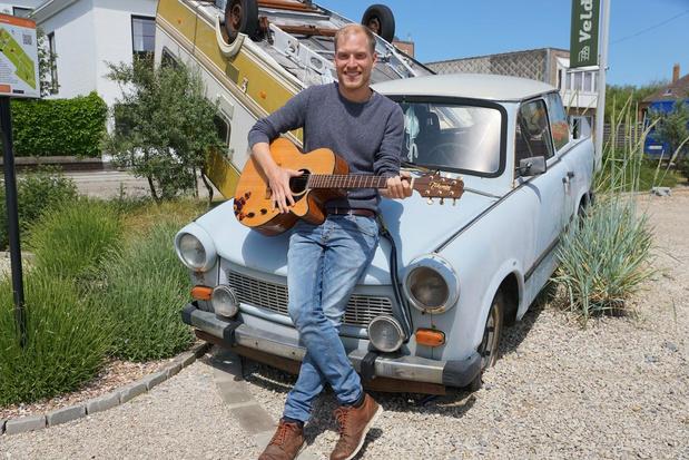 Sander Vandamme (32) schrijft lied voor campings aan de kust
