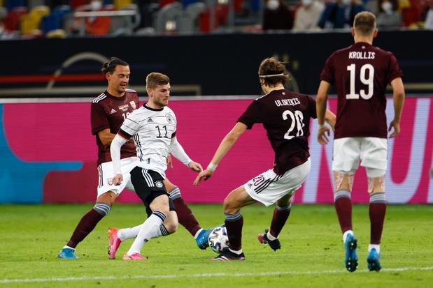 Duitsland vol vertrouwen naar EK na klinkende zege tegen Letland