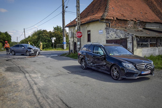 Veel blikschade bij ongeval in Bellegem