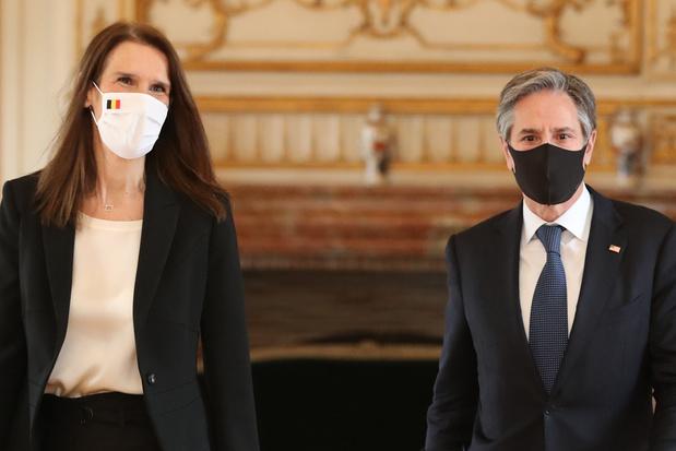Wilmès (MR) en VS-ambtgenoot Blinken: 'Moeten uitdagingen van deze tijd samen aanpakken'