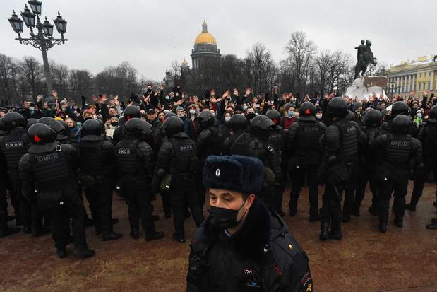G7-ministers eisen dat Rusland Navalny-demonstranten vrijlaat