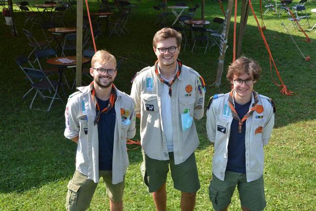 Florent, Lowie en Wannes vormen nieuwe hoofdleiding Scouts Parsifal in Rumbeke