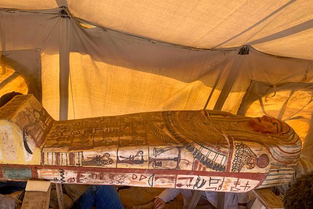 Belangrijke vondst in Egypte: 27 goed bewaarde, nog niet geopende sarcofagen