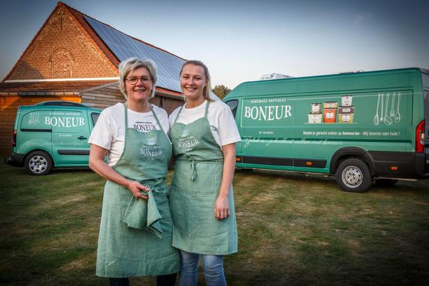 Nieuw concept countert de crisis, Boneur brengt maaltijden aan huis