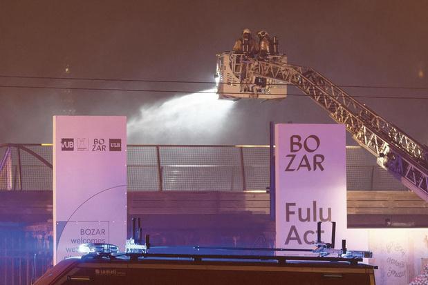 Le 18 janvier, la toiture de Bozar s'embrase