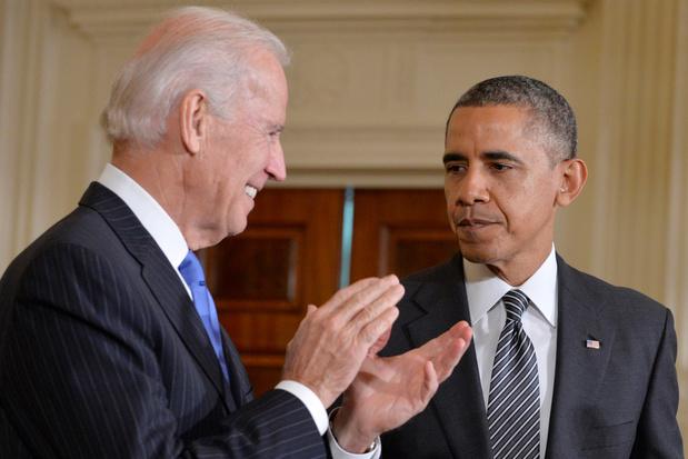 Biden en Obama voor het eerst samen op een verkiezingsbijeenkomst