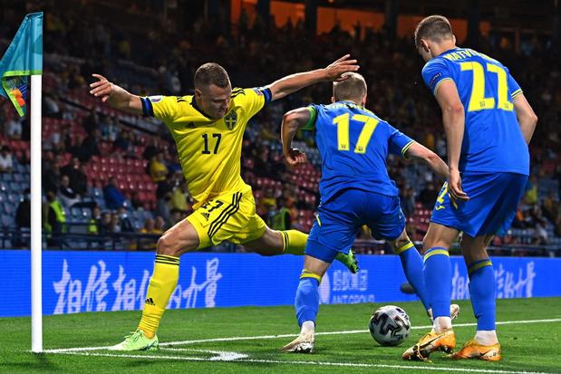 Oekraïne knokt zich in slot van verlengingen voorbij Zweden naar kwartfinales