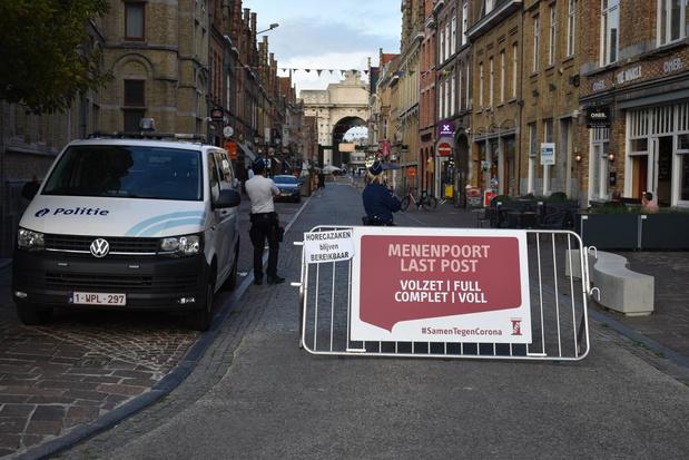 Politie sluit nu ook Menenstraat af tijdens Last Post