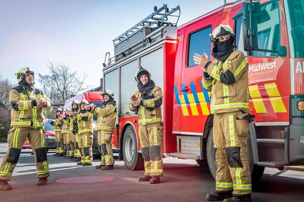 Brandweer van Westrozebeke dankt zorgverleners