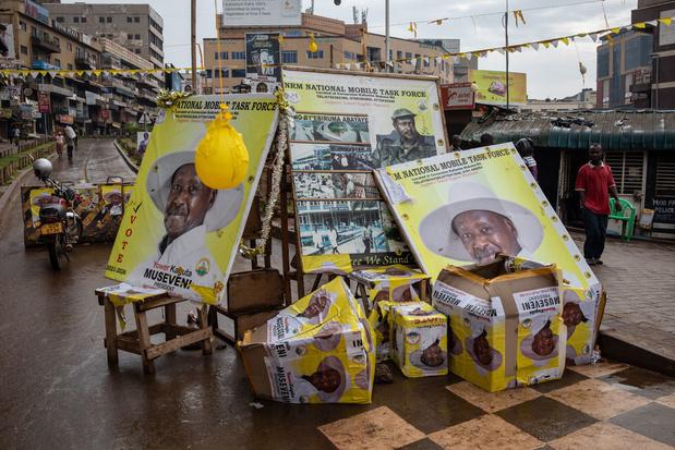 Verkiezingen Oeganda: Museveni herkozen voor zesde termijn
