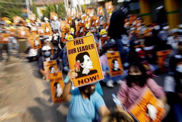 Demonstranten Myanmar willen einde aan cultuur van militaire coups
