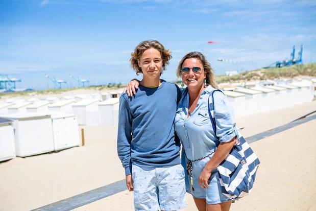Schooldirecteur Stephanie Meire komt op adem aan zee in Zeebrugge