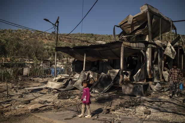 Brand in Grieks vluchtelingenkamp: Artsen Zonder Grenzen moet medische diensten staken