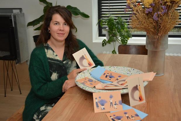 Illustrator Flore Deman pakt uit met postkaartenproject rond gevoelens