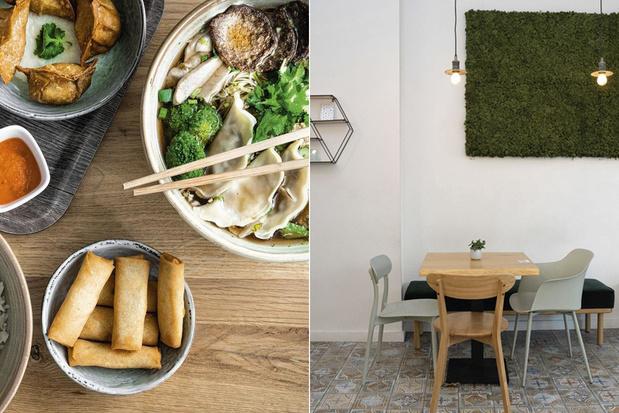 Verse, gezonde fastfood bij het veganistische Liu Lin in Brussel