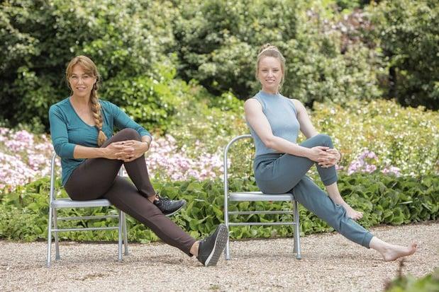 Yoga vanop je stoel