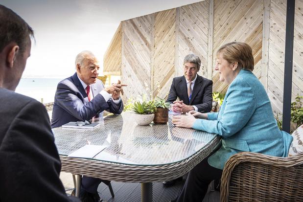 Angela Merkel: 'Joe Biden geeft nieuw elan aan werkzaamheden G7'
