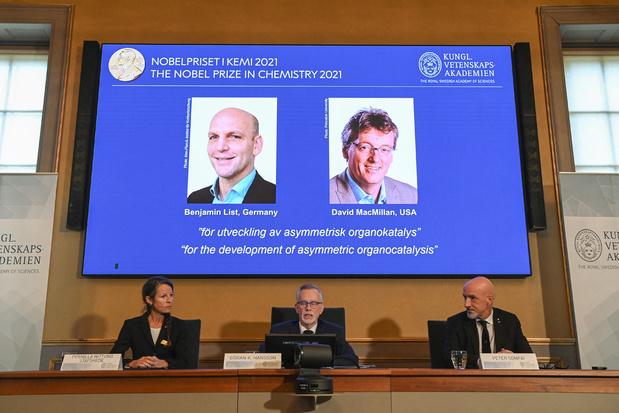 Nobelprijs Chemie naar List en McMillan voor versnelling van scheikundige reacties