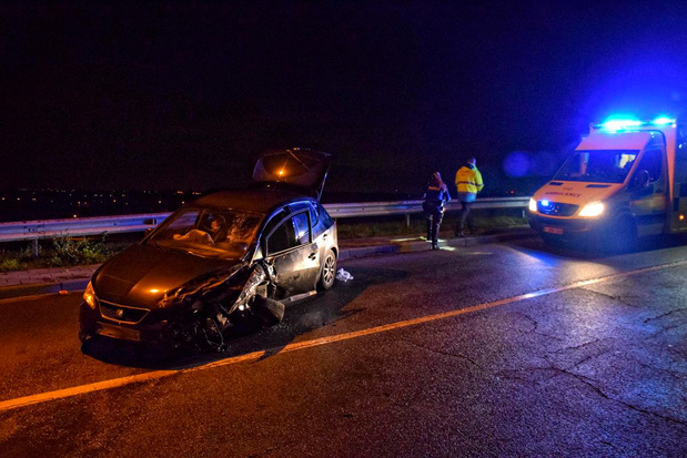 Enorme schade na spectaculair ongeval