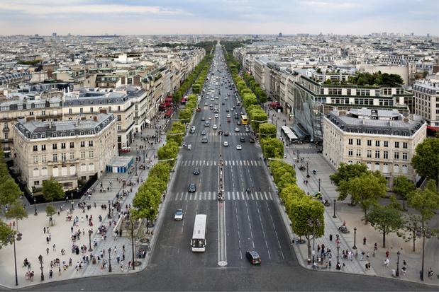 Champs-Élysées in Parijs wordt getransformeerd tot 'buitengewoon park'