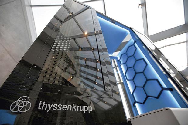 ThyssenKrupp sort de l'ascenseur