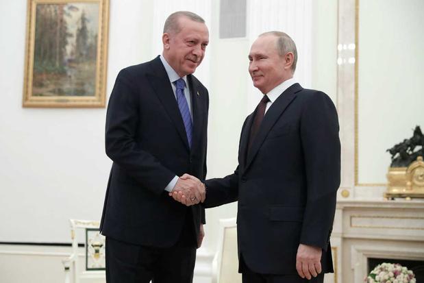 Crisis Syrië: Poetin en Erdogan starten dialoog in Moskou