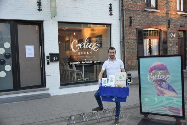 Gelato Queen uit Oostkamp levert enkel nog aan huis met dank aan koelboxen