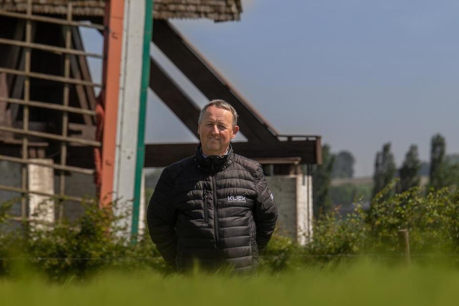 Wim Wullaert (Kliek) fietst elke meidag minstens 50 km en hield onder grote kuis het hoofd