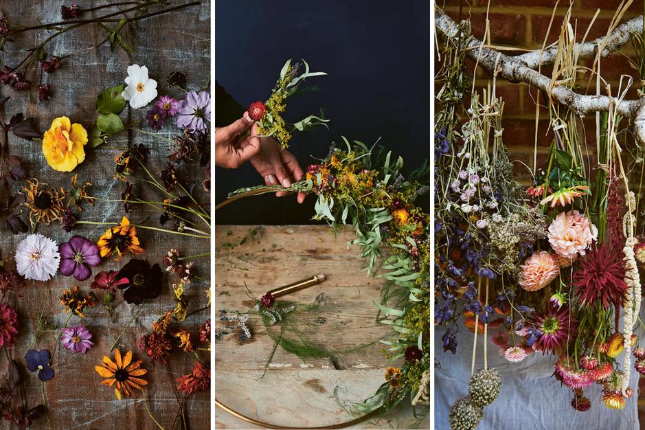 DIY: maak zelf een krans van droogbloemen met tips van Bex Partridge
