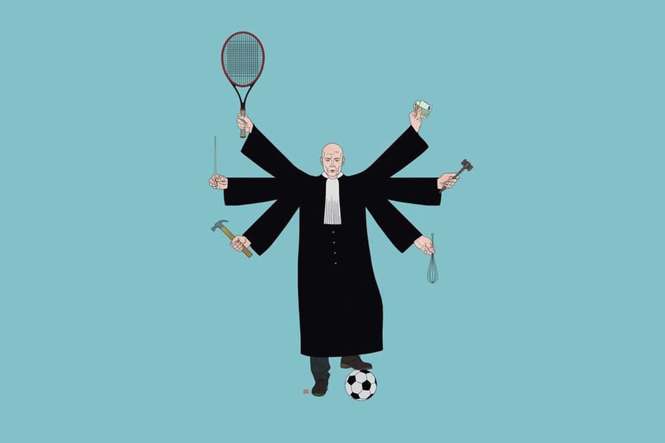 10 à 20 procent van onze rechters heeft een bijberoep: 'We zijn wellicht met te veel magistraten'