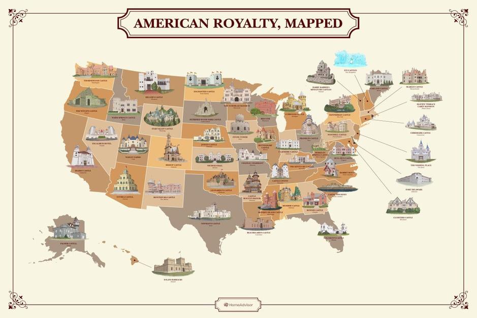 In beeld: dit zijn de mooiste kastelen in alle Amerikaanse staten