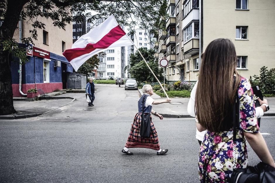Knack-fotograaf Franky Verdickt bij protesten in Minsk: 'Sereen en waardig, en net daarom zo sterk'