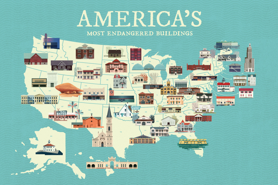 Dit zijn de meest bedreigde gebouwen in de 50 staten van de VS