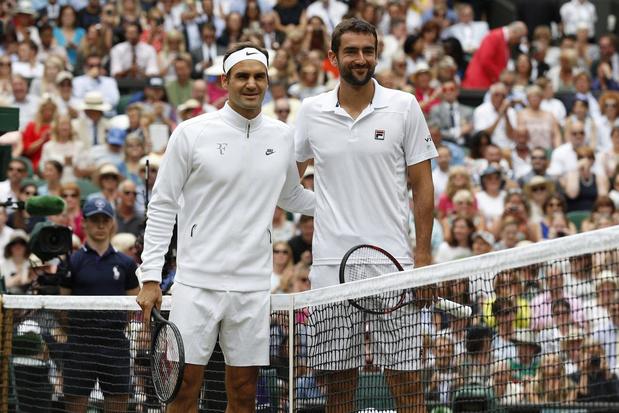 Flashback naar 16 juli 2017: Roger Federer mept zijn tegenstander in tranen