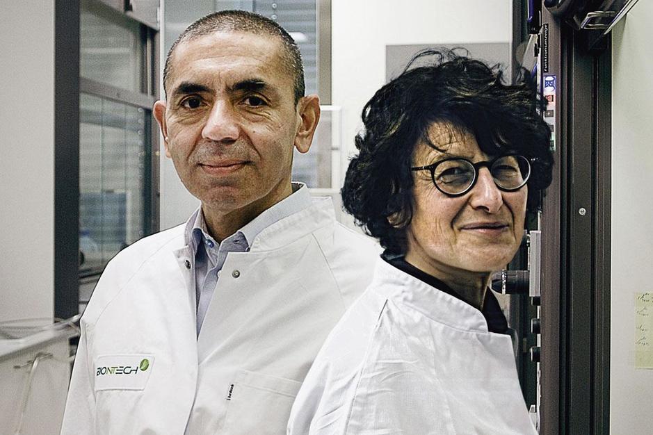 BioNTech-oprichters Sahin en Türeci: 'Het ziet er niet goed uit voor de aanvoer van vaccins'