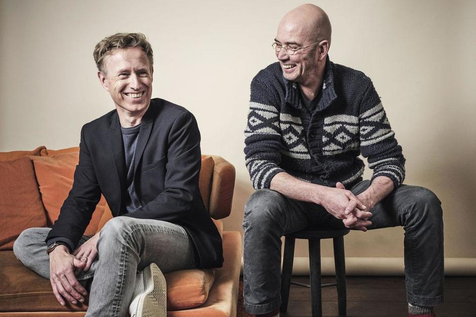 Tommy Wieringa en Peter Terrin, schrijvers en vrienden: 'Nu en dan kloppen we op elkaar'