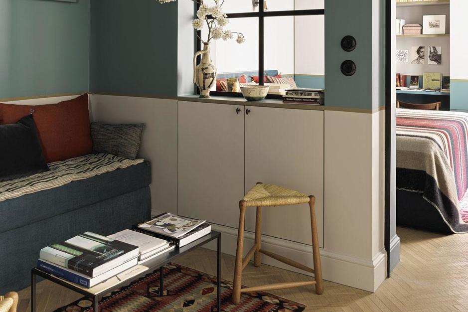 Piepkleine flat in Parijs wordt prachtig aangekleed: 'Dit is het moment om te downsizen'