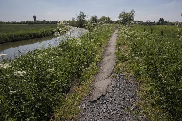 Jaagpad langs IJzer wordt aangepakt: 4,93 km wegdek herstellen en elf bruggetjes vernieuwen