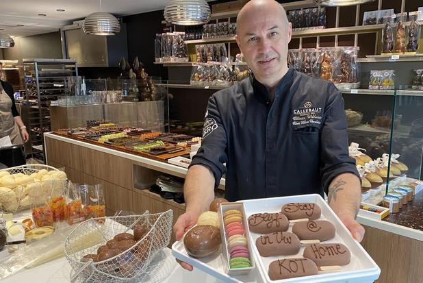 Chocolatier Olivier Willems maakt 'Blijf in uw kot'-box