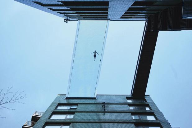 Luchtzwemmen in Londen